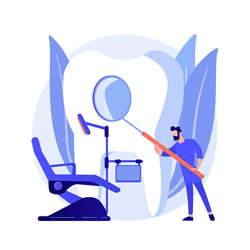 General Dentistry in Sherman, Tx : Five Star Dental Care at Dr. Lance Johnson Family Dentistry: Man Inspects Teeth at General Dentistry Appointment