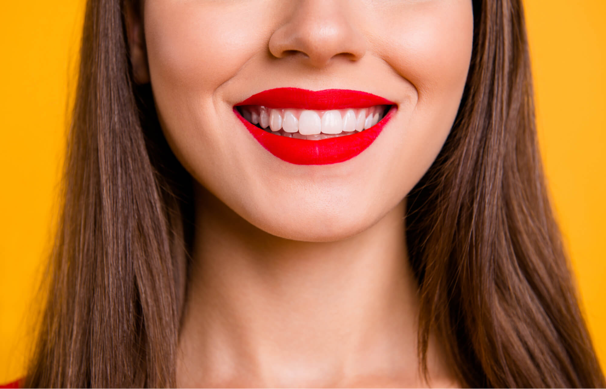 Woman Smiles Gum Health